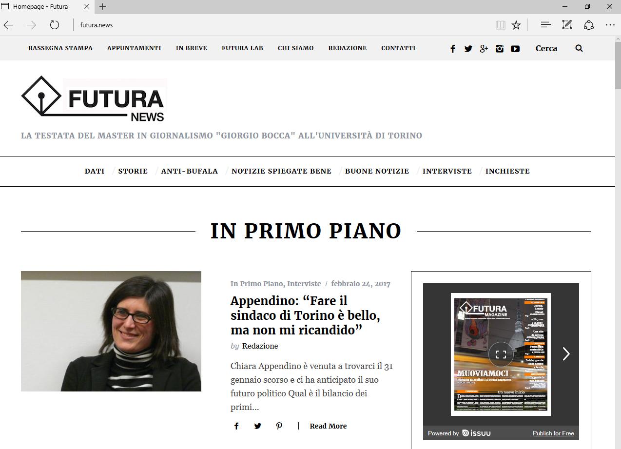 Da oggi seguiteci su Futura News